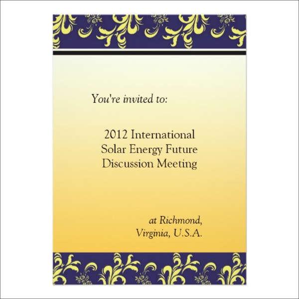 meeting invitations template