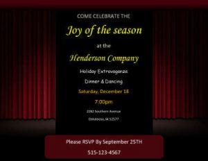 meeting invitations templates joy of the season invititon