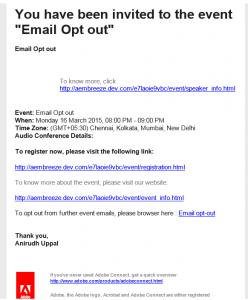 meeting invitations templates opt out email