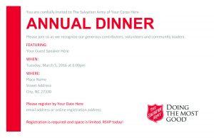 meeting invite templates annual dinner invitation