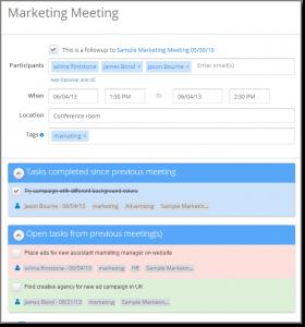 meeting minutes format follow up meeting