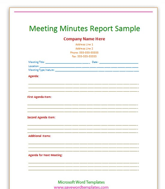 sample meeting minutes template word Oylekalakaarico