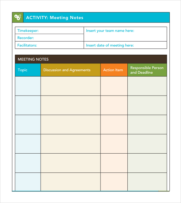 Meeting Notes Template | Template Business