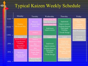 meeting schedule template conducting kaizen events