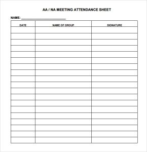 Meeting Sign In Sheet Attendance Sheet Image  Attendance Sign In Sheet