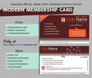 membership card template modern membership card