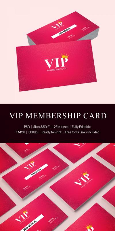 membership card template