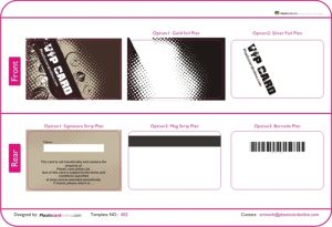 membership card template plastic card template