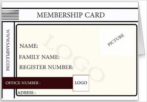 membership card template printed membership card sample