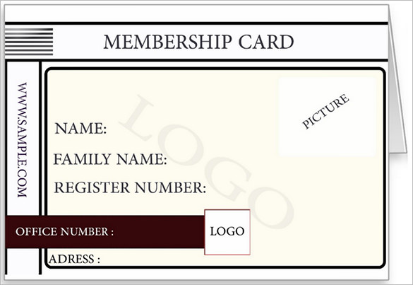 membership card template template business. Black Bedroom Furniture Sets. Home Design Ideas
