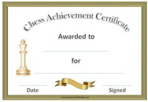 membership certificate template chess certificates