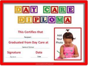 membership certificate template day care diploma