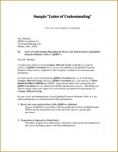 memo of understanding examples letter of understanding template