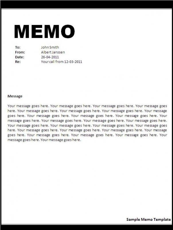 memo template word