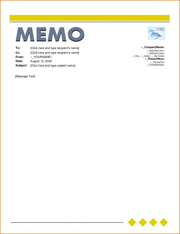 memo template word template business