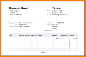 memorandum of agreement template sample payslip template