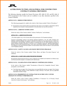 memorandum of agreement template time and materials contract time and materials contract template