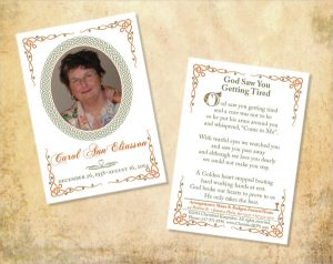 memorial card template celtic design funeral card template