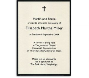 memorial cards for funeral template free misc free printable religious death announcement templates and black border colors x