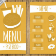 menu design templates hand drawn burger menu template
