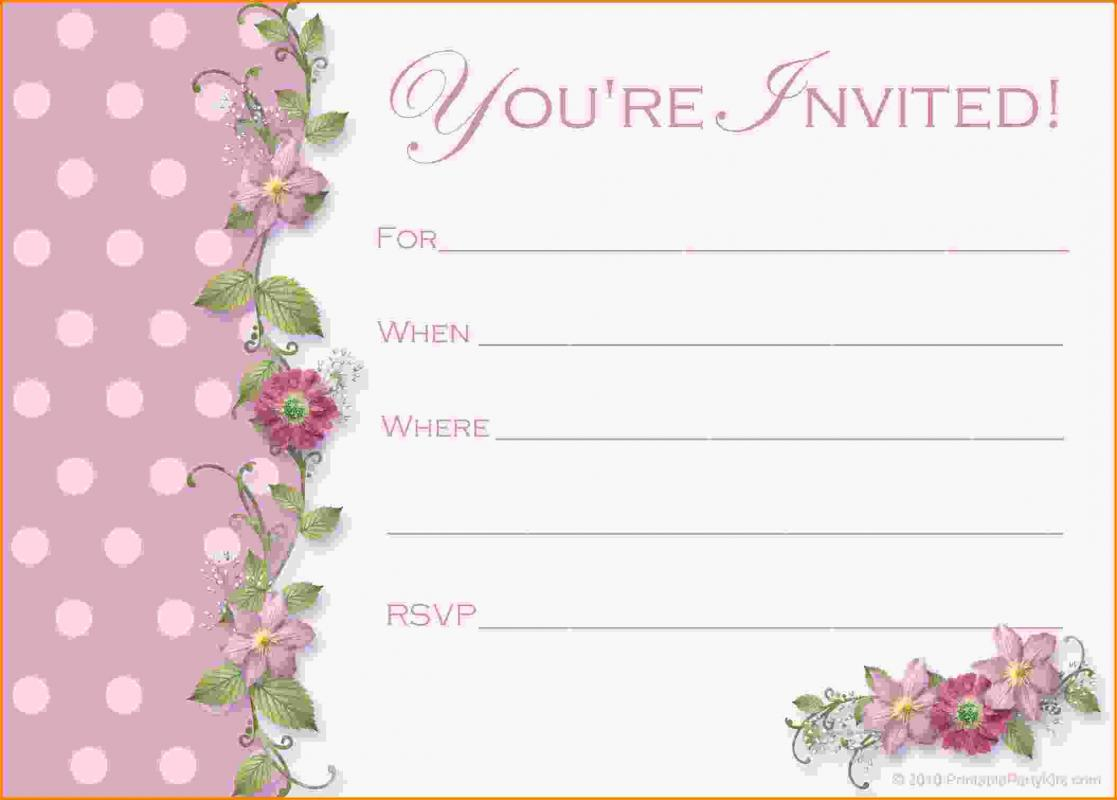menu for baby shower