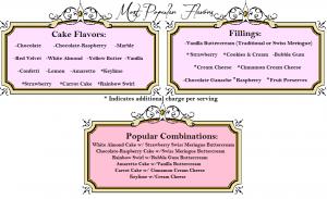 menu for baby shower frame menu