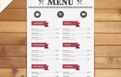 menu template free restaurant menu template