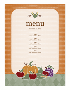 menu template word ddceaddft