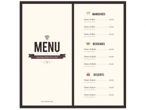 menu template word menu template