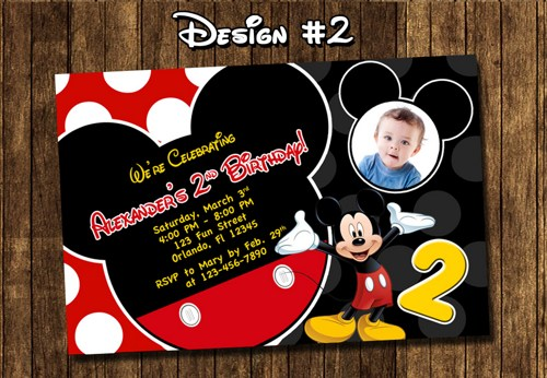 mickey mouse birthday invites
