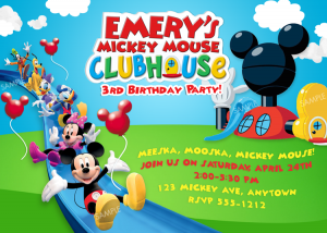 mickey mouse birthday invites mickey mouse clubhouse invitation free