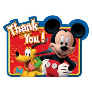 mickey mouse thank you cards disney mickey fun and friends thank you notes bx