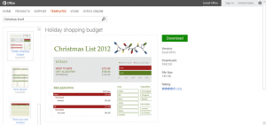 microsoft word coupon template holiday shopping budget template for microsoft excel acdfcfffb