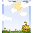 microsoft word letterhead leopard kid letterhead