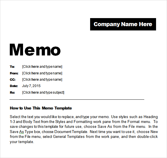 Microsoft Word Memo Templates  Template Business