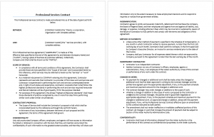 microsoft word memo templates professional services agreement