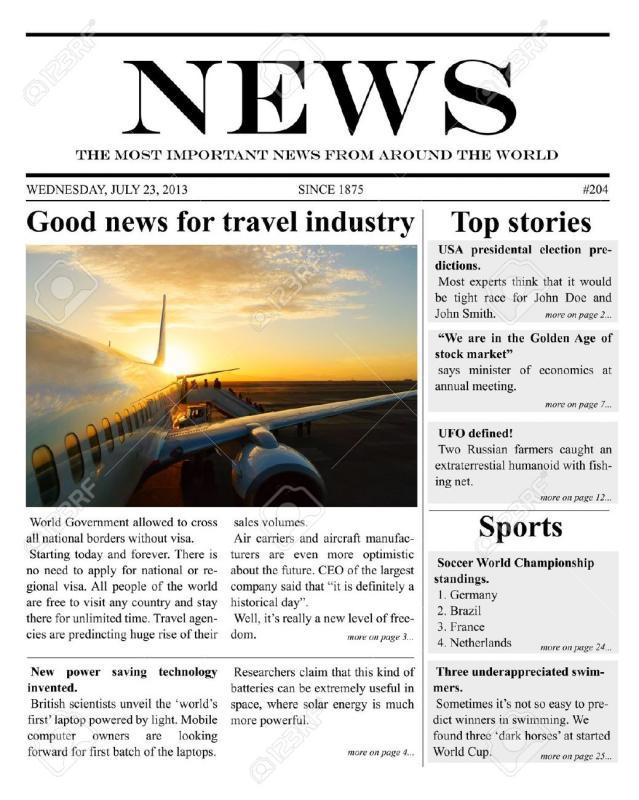 Microsoft Word Newspaper Template Template Business