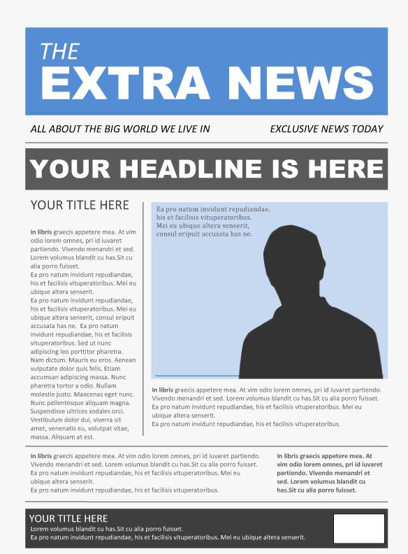 microsoft word newspaper template