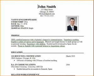 microsoft word template resume format of resume for job application to download resume format ss