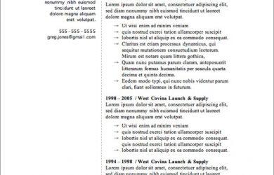 microsoft word template resume free resume template