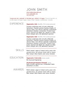 microsoft word template resume resume template