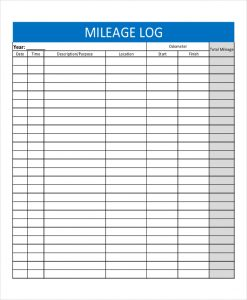 mileage log template mileage log template