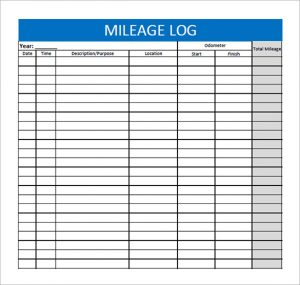 mileage log template mileage log template free