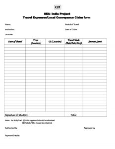 mileage reimbursement template conveyance form
