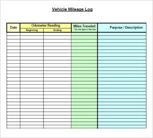 mileage reimbursement template vehicle mileage log template image pdf x