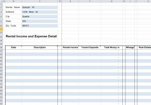 mileage tracker excel e rent rentals detail spreadsheet
