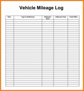 mileage tracker form mileage tracker form mielage log image