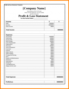 mileage tracker form profit loss statement forms profit and loss statement template