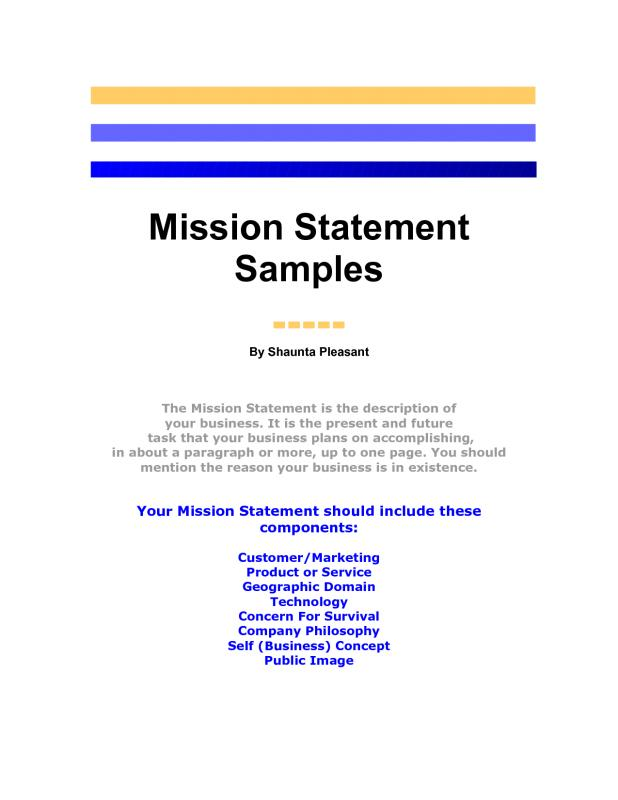 Mission statement template template business mission statement template wajeb Image collections