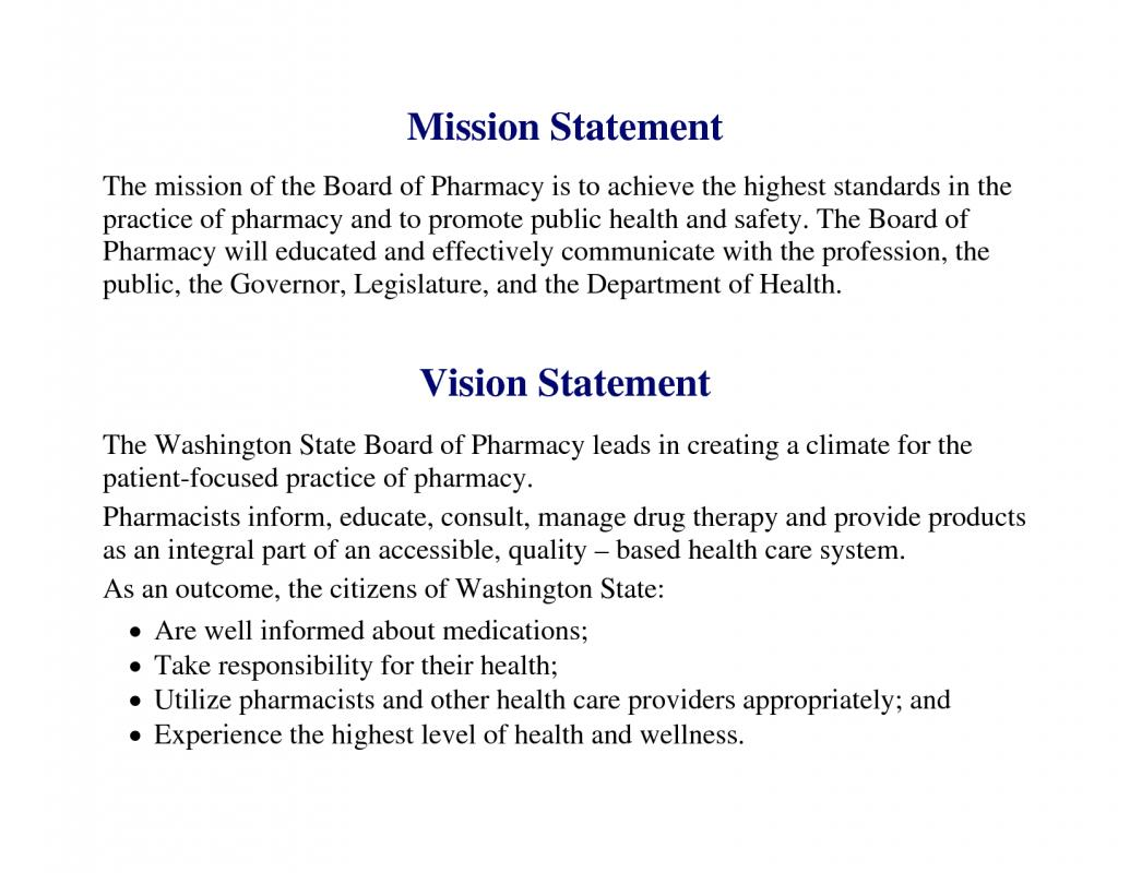 mission statement template